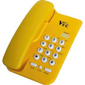 Telefone com Bloqueador Vec KXT3026 Amarelo
