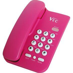 Telefone com Bloqueador Vec KXT3026 Rosa