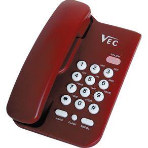 Telefone com Bloqueador Vec KXT3026 Vermelho