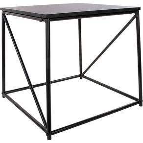 Mesa de Canto 50x45cm Quadrada Cazza Preta