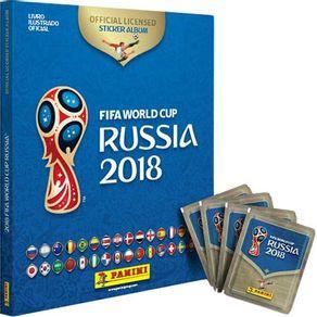 Álbum de Figurinhas Copa do Mundo Rússia 2018 com Capa Dura e 12 Envelopes Panini