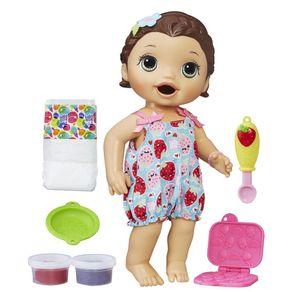 Boneca Baby Alive Lanchinho C2698 Hasbro Morena