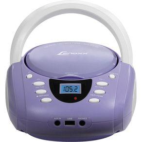 Rádio Lenoxx com CD. MP3. FM. 5WRMS. Entradas USB e Auxiliar BD-120 Lavanda