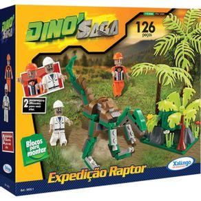 Blocos de Montar 126 Peças Dino Saga Expedição Raptor 0652.1 Xalingo