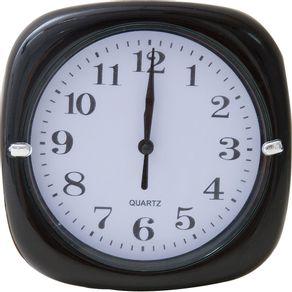 Relógio 17cm Redondo Cazza Preto