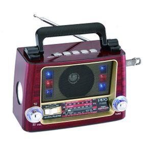 Rádio Portátil Retrô Vicini VC-282 Bluetooth com AM/FM/SW. Entradas USB e Auxiliar