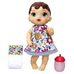Boneca Baby Alive Hora do Xixi E0499 Hasbro Morena