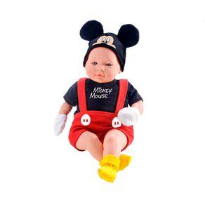 Boneco Recém Nascido Roma Mickey Classic Dolls 5161