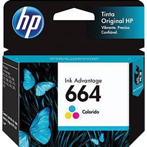 Cartucho de Tinta HP 664 Tricolor
