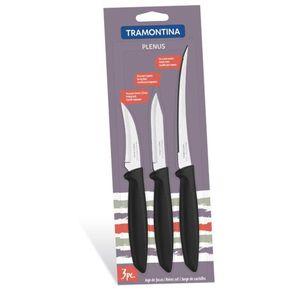 Conjunto 3 Facas Tramontina Plenus 23498/012 Preta