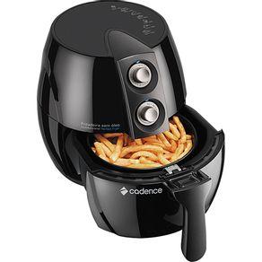 Fritadeira Elétrica Cadence sem Óleo 2.3L Perfect Fryer FRT531 com Timer Preta 127V
