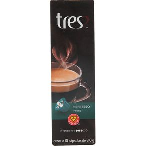 Cápsula de Café Tres com 10 Unidades de 8g Espresso Pleno