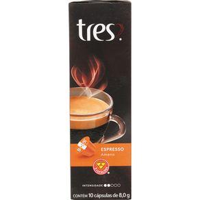 Cápsula de Café Tres com 10 Unidades de 8g Espresso Ameno