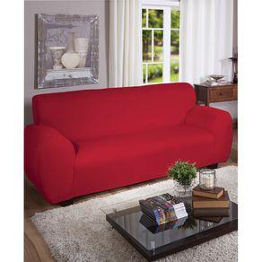 Capa para Sofá 3 Lugares Arte & Cazza Malha Gel Vermelha