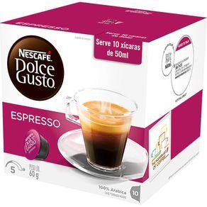 Cápsula Dolce Gusto Nescafé com 10 Unidades de 6g Espresso