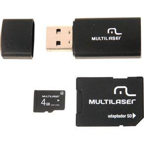 Pen Drive 4GB Multilaser 3 em 1 MC057