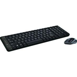 Teclado com Mouse sem Fio Logitech MK220 Preto
