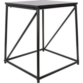 Mesa de Canto 40x45cm Quadrada Cazza Preta
