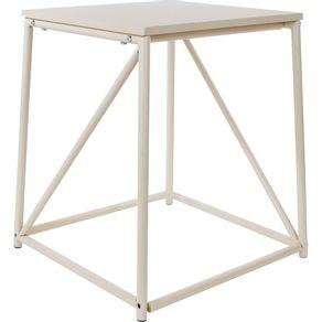 Mesa de Canto 40x45cm Quadrada Cazza Bege