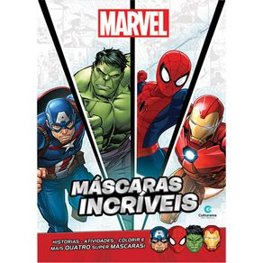 Livro Infantil Culturama Máscaras Íncriveis Marvel