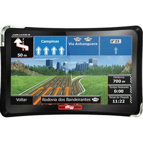 "GPS Automotivo 4.3"" Aquarius 4 Rodas Slim MTC4374 com TV Digital"