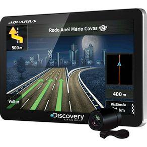 """GPS Automotivo 4.3"""" Aquarius Discovery Channel Slim MTC3842 com TV e Câmera de Ré"""