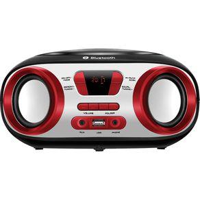 Rádio Portátil 8WRMS Mondial Up Battery BX-20 MP3 Entrada USB Preto e Vermelho
