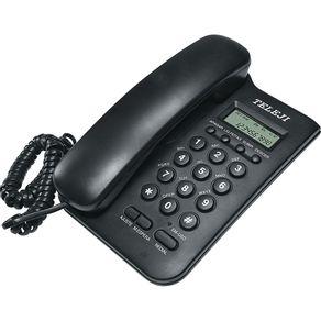 Telefone com Identificador Teleji preto
