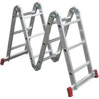Escada 4x3 Alumínio Articulada Botafogo Lar & Laze...