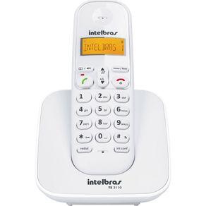 Telefone sem Fio com Identificador TS3110 Intelbras Branco
