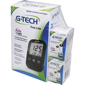 Combo-G-Tech-Lite-Med-Glicose-100-Tiras