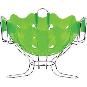 fruteira-de-mesa-cromada-cromo-colors-niquelart-verde