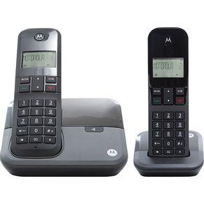 Telefone sem Fio com Ramal e Identificador Dect 6.0 Motorola MOTO3000MRD2