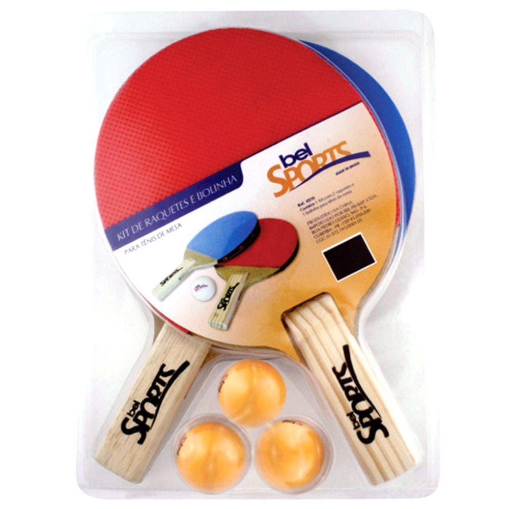 fcfe15eec Kit 2 Raquetes e Bola de Ping Pong 4850 Bel Fix - Casa e Video