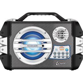 Caixa Amplificada com Bluetooth FM Karaokê Microfone Potência 100W RMS Entradas USB e SD Lenoxx CA305