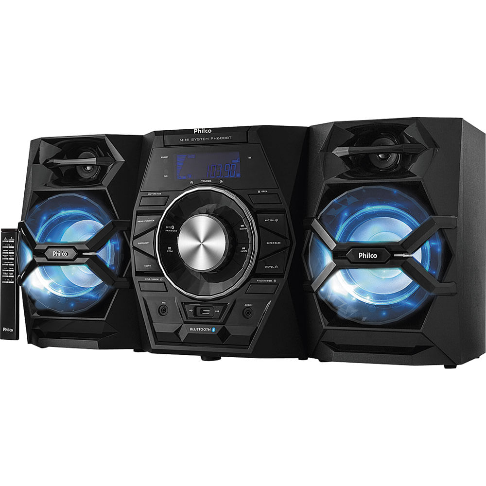 b6389148cd0 Mini System com CD. MP3. Bluetooth. Potência 500W RMS. Entradas USB ...