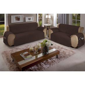 Protetor-para-Sofa-3-Lugares-Matelado-com-Bolso-Arte---Cazza-Tabaco