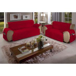 Protetor-para-Sofa-2-Lugares-Matelado-com-Bolso-Arte---Cazza-Vermelho