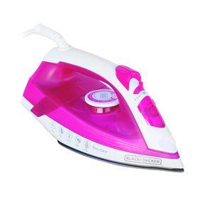 Ferro-a-Vapor-com-Spray-e-Base-Antiaderente-Black---Decker-AJ2200-Branco-Rosa-127V