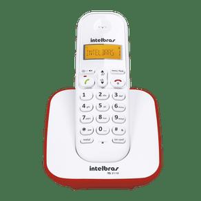 Telefone-sem-Fio-com-Identificador-Intelbras-TS3110-Branco-Vermelho