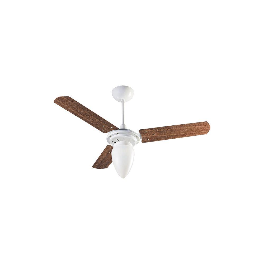 91c926aff Ventilador de Teto Ventisol Wind Pêra com 3 Pás de MDF Dimmer 3 Velocidades  127V - Mogno Branco