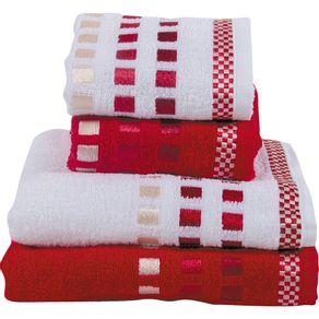 Jogo-de-Banho-4-Pecas-Calera-Karsten-Branco-Vermelho