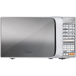 Forno-Micro-ondas-20L-Midea-com-10-Niveis-de-Potencia-Espelhado-Liva-MTAE21-Branco-127V