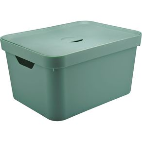 Caixa-Organizadora-32L-Alta-com-Tampa-e-Alca-Cube-OU-Verde