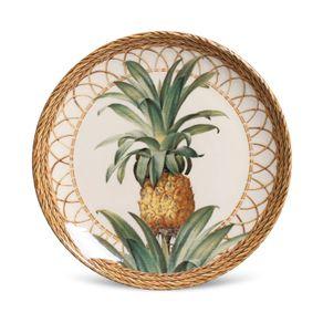 Prato-de-Ceramica-Sobremesa-20cm-Porto-Brasil-Pineapple