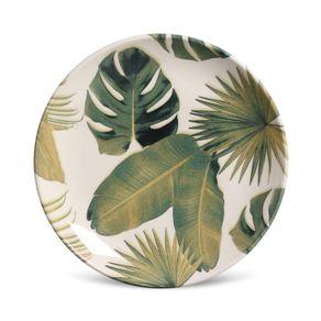 Prato-de-Ceramica-Sobremesa-20cm-Porto-Brasil-Foliage