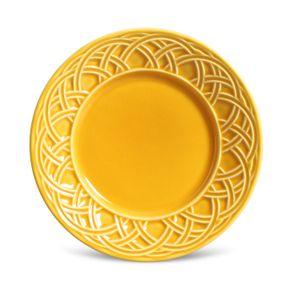 Prato-de-Ceramica-20.5cm-Sobremesa-Cestino-Porto-Brasil-Mostarda