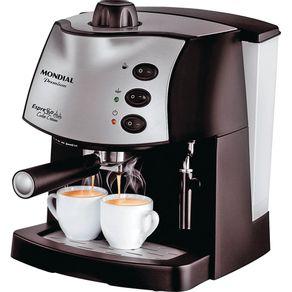 Cafeteira-Expresso-2-Xicaras-15BAR-Mondial-Premium-Coffee-Cream-C-08-Preta-Prata-127V