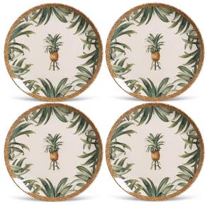 conjunto_4_pratos_Ceramica_Pineapple_PortoBrasil