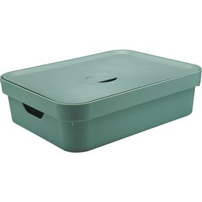 Caixa-Organizadora-16L-Baixa-com-Tampa-e-Alca-Cube-OU-Verde-